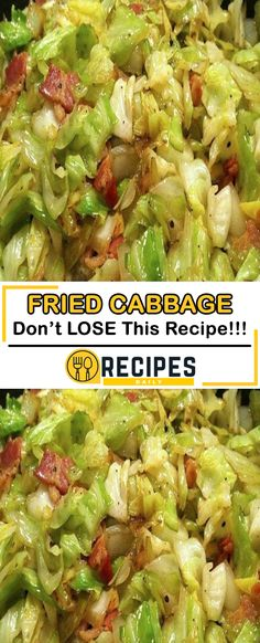 FRIED CABBAGE RECIPE Southern Fried Cabbage – So simple yet absolutely ADDICTING! Bacon gives it the smoky flavor that is put over the top by a little bit of brown sugar and apple cider vinegar! Side Dish Recipes, Veggie Recipes, Vegetarian Recipes, Healthy Recipes, Snacks Recipes, Waffle Recipes, Burger Recipes, Recipies, Candy Recipes