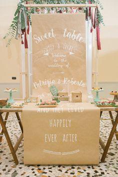dessert table - photo by Irene Fucci http://ruffledblog.com/lake-como-destination-wedding-with-hanging-amaranthus