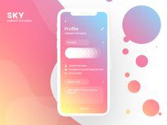 health app Mobile UI Design by Bhoomita Patel Mobile Ui Design, App Ui Design, Interface Design, Design Design, Flat Design, Interaction Design, Circle App, Ui Design Tutorial, Cute App