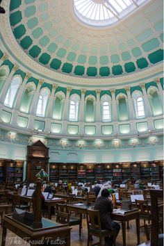 National Library of Ireland (Kildare Street, free entry). It's only a short walk away from Trinity College
