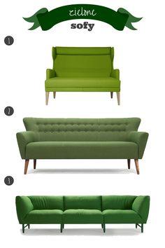 zielona sofa // green sofa Couch, Blog, Furniture, Home Decor, Settee, Sofa, Couches, Interior Design, Sofas