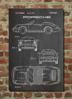 Porsche 911 Patent Wall Art Poster This patent poster is printed on 90 lb. Cardstock paper. Choose between several paper styles and multiple sizes.