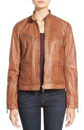 9247e00c3b1 Bernardo Zip Front Leather Jacket (Regular   Petite) Faux Coat