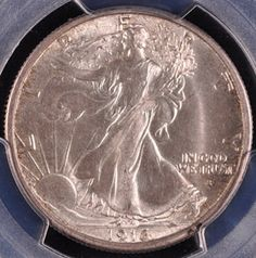 Rare Coin Wholesalers has this item on Collectors Corner - 1916-S 50C MS65 PCGS