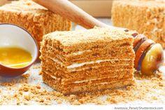 Honigtorte Tort Medovik - Торт Медовик - Russische Rezepte