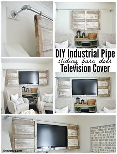 Amazing How To Make A Barn Door Cover With Barn Door Tv Cover.