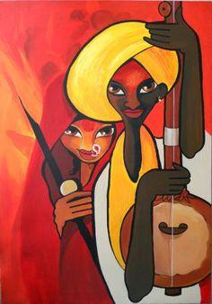 "Saatchi Art Artist Niloufer Wadia; Painting, ""Pilgrim Music"" #art"