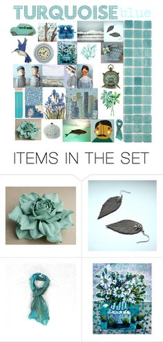 Turquoise blue by belinda-evans on Polyvore featuring art