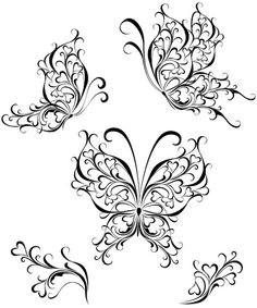 Quilling Butterfly, Butterfly Drawing, Butterfly Tattoo Designs, Paper Quilling Patterns, Quilling Designs, Butterfly Coloring Page, Silhouette Images, Couple Silhouette, Silhouette Vector