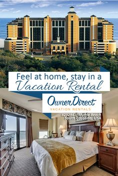 Myrtle Beach Vacation Rentals - Villas and Condo Accommodations Myrtle Beach South Carolina, Carolina Usa, Myrtle Beach Vacation Rentals, Live In Style, Room Kitchen, Renting A House, Balcony, Luxury Homes, Master Bedroom