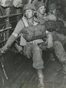 oh how I would love to see my fathers face in one of these photos. Paratroopers of the Battalion, Parachute Infantry Regiment of the Airborne Division, enroute to Sicily on July World History, World War Ii, 82nd Airborne Division, Band Of Brothers, Paratrooper, D Day, Military History, Military Photos, Vietnam War