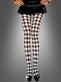 Clown Pierrot Harlekin Strumpfhose bei Kostuempalast.dede