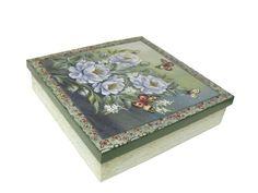 Caixa verde Flores