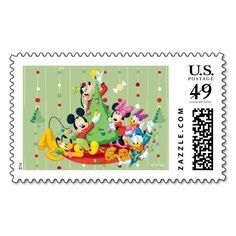 Disney Christmas Holiday Mickey Mouse Postage Stamp