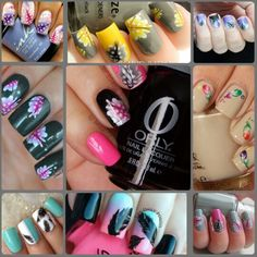 Feather nail art design