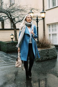 3 x Wool Coat Shades Of Beige, Grey And Beige, Stylish Outfits, Fashion Outfits, Little Bit, Grey Scarf, Teddy Coat, Blue Coats, Winter Coat