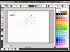 Silhouette Video Tutorial – Coloring cutable files to create print and cut graphics!