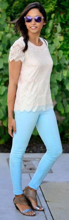 Tractor Tender Blue Women's Skinny Jeans