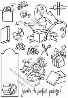 Hanna Stamps clear stamps Perfect Package