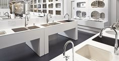 freestanding architecture plumbing showroom pavilion home products display - Google Search