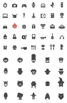 Random collection of icons. Serious to not so serious.