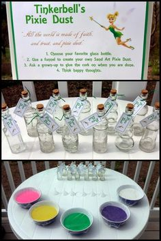 Peter Pan / Neverland Party - Pixie Dust Sand Art Craft