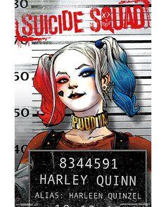 Harley Quinn Suicide Squad Mug Shot Poster - Spencer's