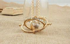 time turner necklace hourglass vintage