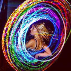 Light Scattering, Spin, Rave, Hoop, Dancer, Electric, Beauty, Raves, Dancers
