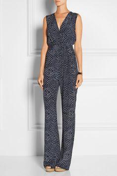 6043a130c5f Diane von Furstenberg - Eva wrap-effect printed silk jumpsuit
