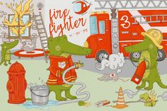 Firefighter Graphics By MizzLisa