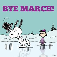 Bye March months snoopy april hello april goodbye march welcome april hello april quotes Snoopy Cartoon, Peanuts Cartoon, Peanuts Snoopy, Snoopy Comics, Charlie Brown Christmas, Charlie Brown And Snoopy, Peanuts Characters, Cartoon Characters, Hello March