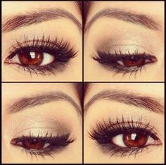 10 Natural Makeup Look Ideas This eye make-up.is gorgeous !This eye make-up.is gorgeous ! Simple Eye Makeup, Natural Makeup Looks, Love Makeup, Beauty Makeup, Hair Beauty, Perfect Makeup, Pretty Makeup, Gorgeous Makeup, Amazing Makeup