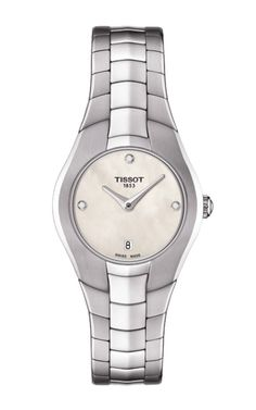 Tissot Women's Swiss T-Round Diamond Accent Stainless Steel Bracelet Watch Sapphire Diamond, Stainless Steel Bracelet, Luxury Watches, Lady, Round Diamonds, Watches For Men, Women's Watches, Bracelet Watch, Jewelry Watches