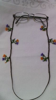 . Needle Lace, Needle And Thread, Drawn Thread, Eyeglass Holder, Beaded Flowers, Tree Branches, Eyeglasses, Sculpting, Art Pieces