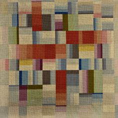 BAUHAUS Woven wool textile in geometric