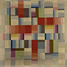 BAUHAUS Woven wool textile in geometric
