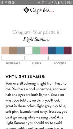 Light summer color scheme Summer Color Palettes, Soft Summer Palette, Summer Colors, Inverted Triangle Fashion, Seasonal Color Analysis, Cool Undertones, Color Me Beautiful, Color Harmony, Light Spring