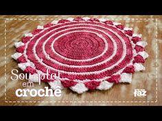 Sousplat em Crochê (Diane Gonçalves) - YouTube