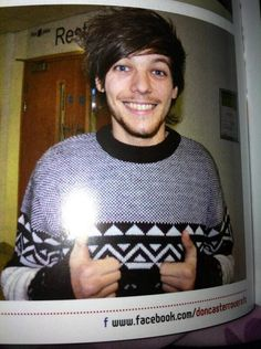 His sweater... and his smile... and him... so adorable!