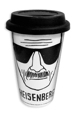 Breaking Bad Travel Coffee Mug Cup With Silicone Lid - Heisenberg Sketch Design Heisenberg, Serie Breaking Bad, Breaking Bad Party, Travel Mug Coffee, Coffee To Go, Travel Mugs, Coffee Shop, Walter White, Urban Outfitters
