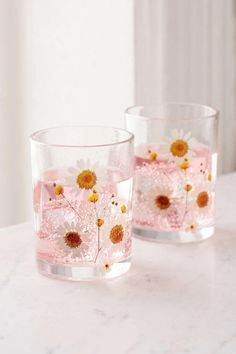 Shop Pressed Daisy Glass - Set Of 2 at Urban Outfitters today. We carry all the latest styles, colors and brands for you to choose from right here. Cute Kitchen, Kitchen Items, Kitchen Gadgets, New Years Eve Decorations, Dinnerware Sets, Crafty, Tableware, Kitchenware, Mugs