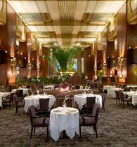 "The Orchids at Palm Court in Cincinnati was ranked #7 in OpenTable's ""2013 Diner's Choice Top 10 Best Restaurants in the U.S."" Located at the Hilton Cincinnati Netherland Plaza, a historic Art Deco building."