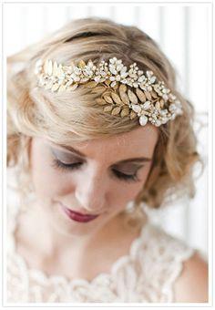 hair accessories (city hall wedding ideas)