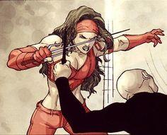 Ultimate Elektra fight scene