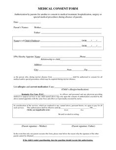 Minor Surgery Consent Form Template  Consent Form