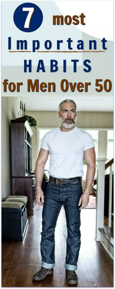 Healthy Man men over 50 health habits - Two highly regarded medical doctors – experts in healthy aging – reveal the seven good habits that men over 50 too often forget. Fitness Home, Over 50 Fitness, Mens Fitness, Healthy Man, Healthy Aging, How To Stay Healthy, Healthy Habits, 50 Year Old Men, Health And Wellness