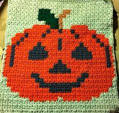 Ravelry: Jack O'lantern Halloween square pattern by Sarah Boham