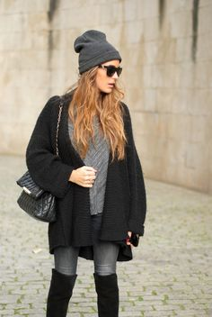 over knee boots - stellawantstodie  paired with a super outfit! loving this!