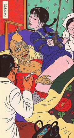 散發詭譎情色烏托邦風格!日本藝術家佐伯俊男用插畫窺探人類慾望 | GQ瀟灑男人網
